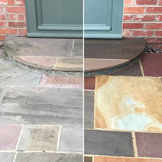 natural stone cleaning, patio cleaning
